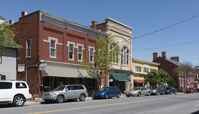Street view of Shepherdstown, West Virginia