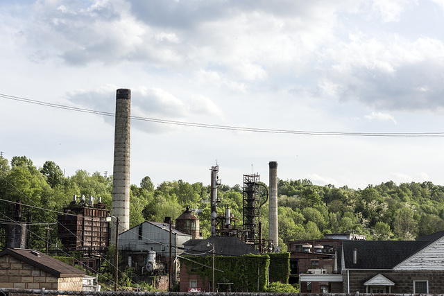 The abandoned St. Marys Refinery in St. Marys, West Virginia
