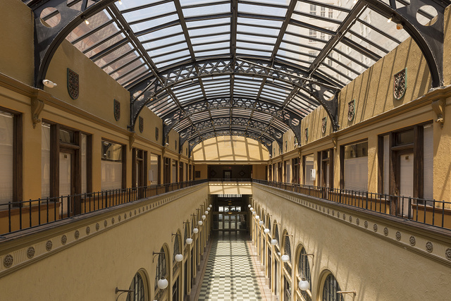 The Huntington Arcade, originally called the Ritter Arcade, in downtown Huntington, West Virginia