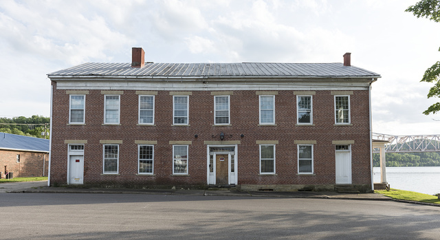 The old Alexander Creel Tavern, also known as the Cain House, in St. Marys, West Virginia