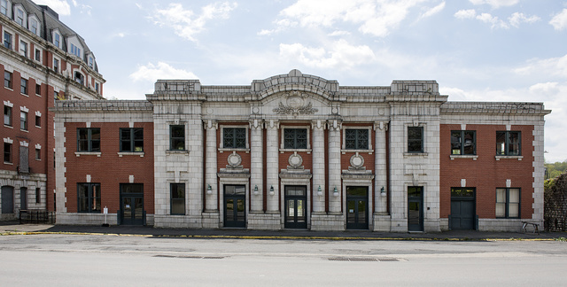 The old Baltimore & Ohio Railroad Station in Grafton, West Virginia, built in 1911, a year before 30 passenger trains a day passed through this B&O junction town
