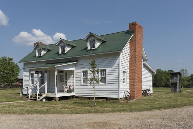 The Summers House at the West Virginia State Farm Museum, a 50-acre historical tract to which 32 old farm buildings have been relocated, near the Mason County Fairgrounds outside Point Pleasant, West Virginia