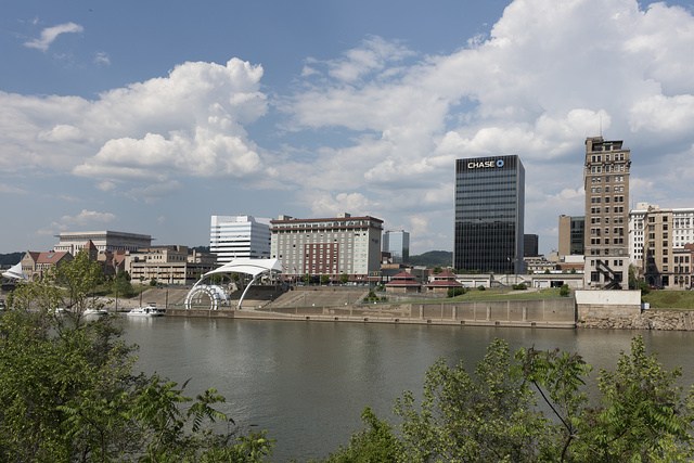 View across the Kanawha River of Charleston, the capital city of West Virginia