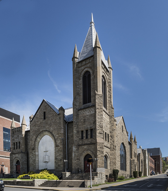Wesley United Methodist Church (formerly the First Methodist Episcopal Church) in Morgantown, West Virginia