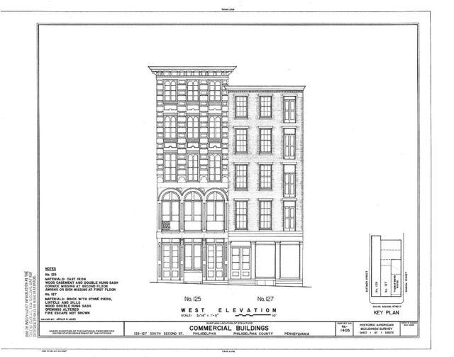 125-127 South Second Street (Commercial Buildings), Philadelphia, Philadelphia County, PA