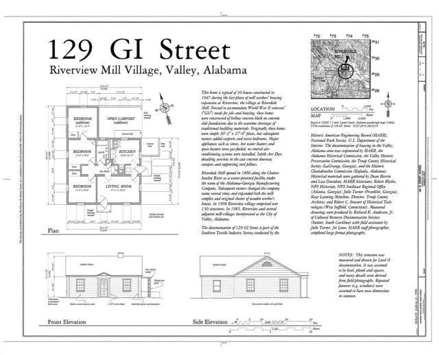 129 GI Street (House), 129 G I Street, Valley, Chambers County, AL