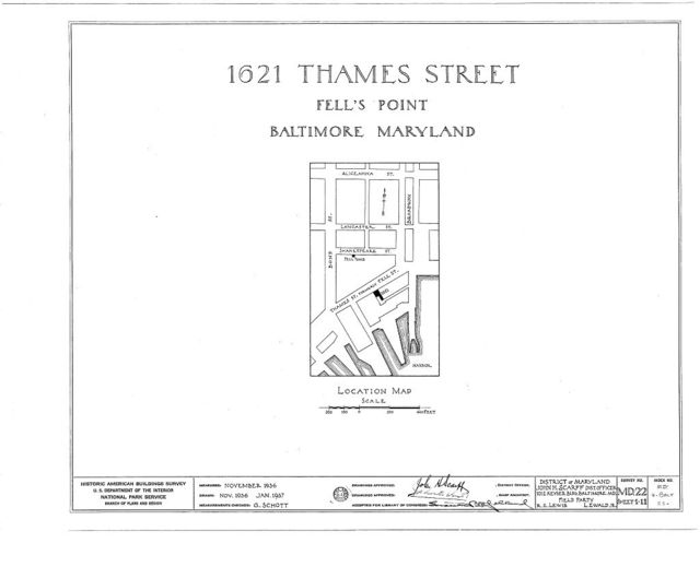 1621 Thames Street (House), Fell's Point, Baltimore, Independent City, MD