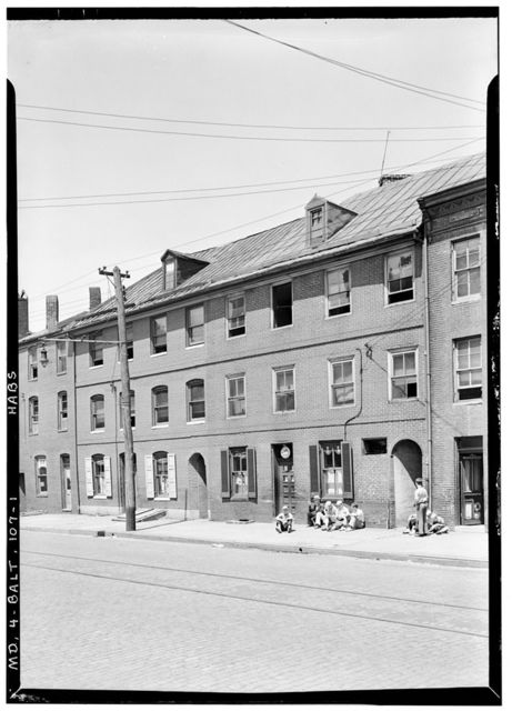 1626-1628 Thames Street (Row Houses), Baltimore, Independent City, MD