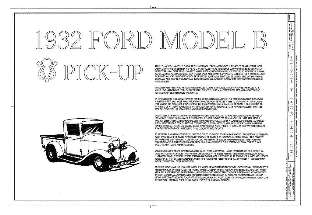 1932 Ford Model B Pick-Up, Greenwood, Sebastian County, AR