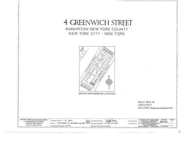 4 Greenwich Street (House), New York, New York County, NY