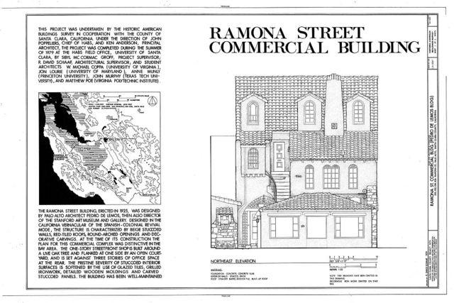 520-526 Ramona Street (Commercial Building), 520-526 Ramona Street, Palo Alto, Santa Clara County, CA
