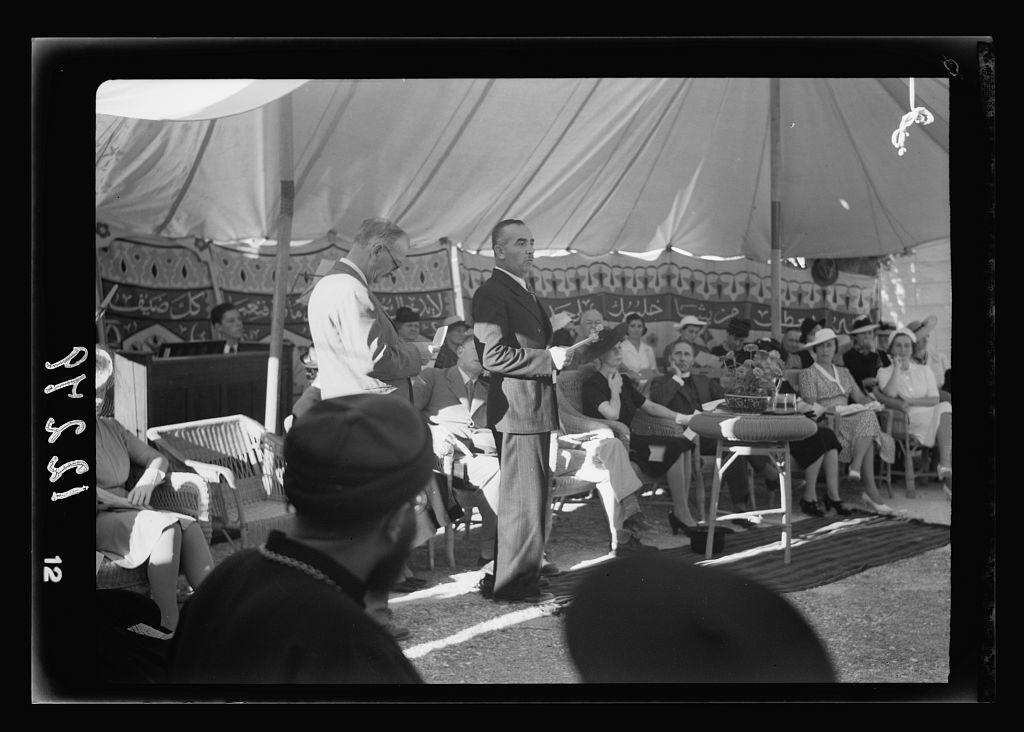 60th Anniversary of A.C. [i.e., American Colony] in Jer. [i.e., Jerusalem] Reminiscense address by Chukri Eff. Rasabb
