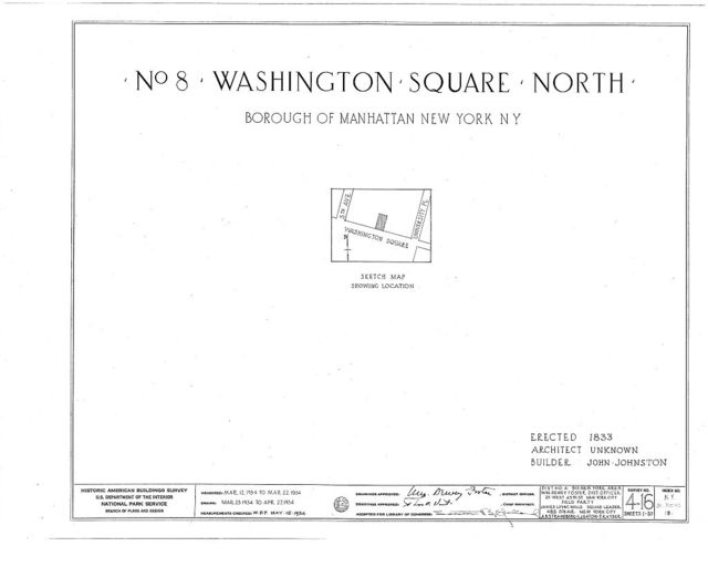 8 Washington Square North (House), New York, New York County, NY