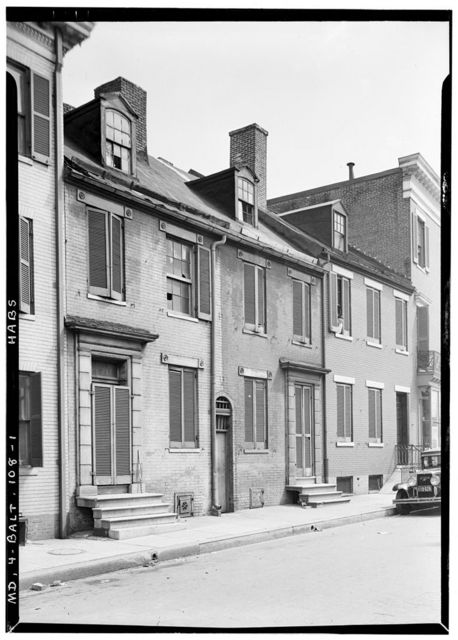 922-924-926 Watson Street (Row Houses), Baltimore, Independent City, MD