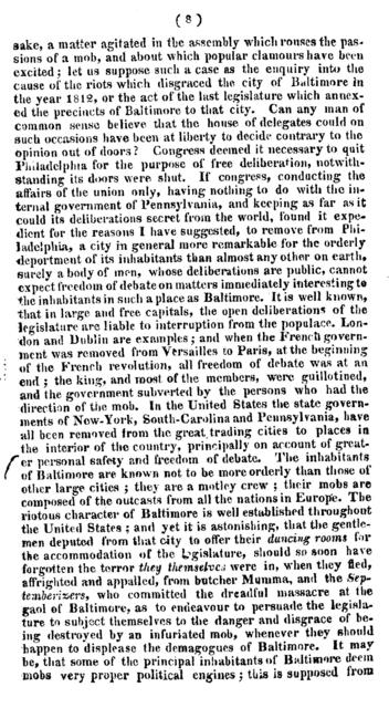 A candid appeal to the freemen of Maryland on the projected removal of their seat of government.