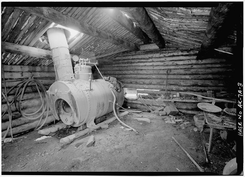 A. D. Wilcox Drift Mine, Boiler Cabin, Linda Creek near Dalton Highway, Bettles, Yukon-Koyukuk Census Area, AK