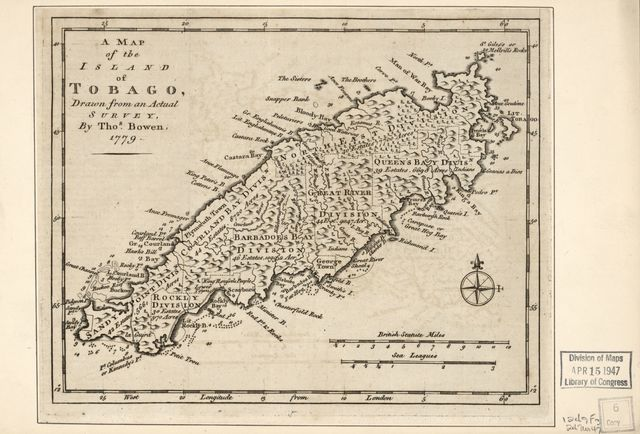 A map of the island of Tobago /
