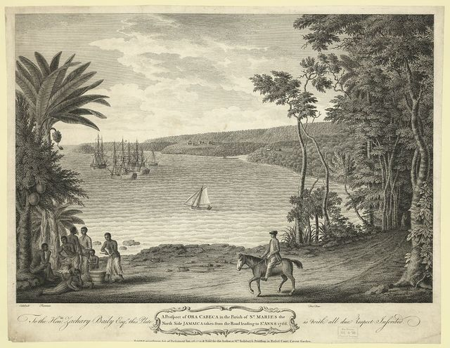 A prospect of Ora Cabeca in the parish of St. maries the North Side Jamaica taken from the road leading to St. Anns 1766