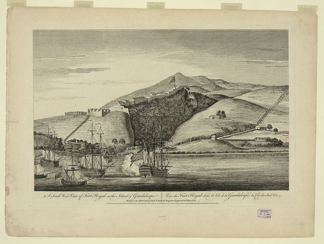 A South West view of Fort Royal in the island of Guadaloupe