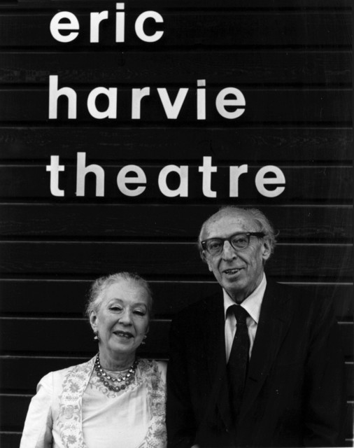 Aaron Copland and Agnes DeMille in Banff, 1976