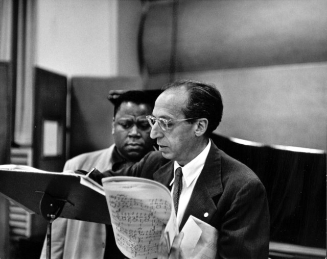 Aaron Copland and William Warfield, ca. 1963