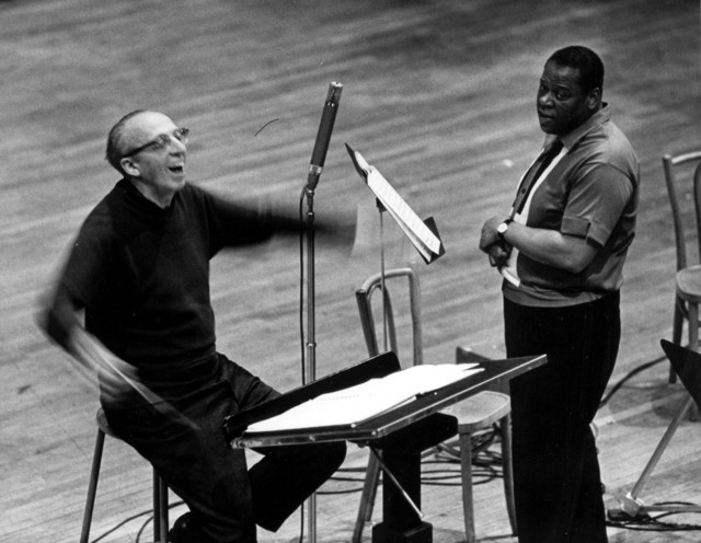 Aaron Copland conducting; with William Warfield, ca. 1963
