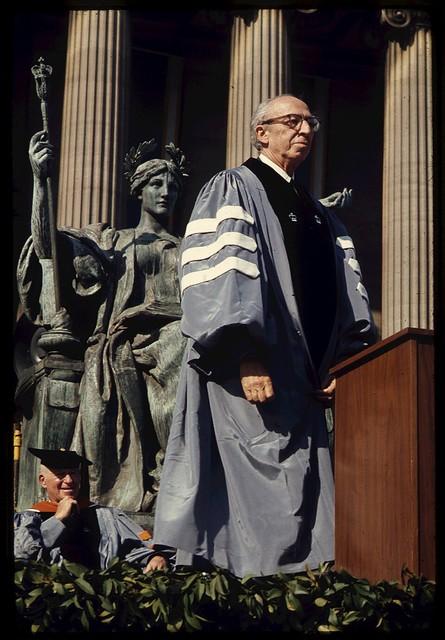 Aaron Copland receiving honorary degree, Columbia University