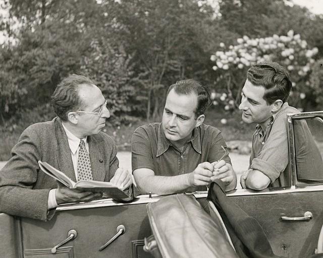 Aaron Copland with Samuel Barber and Gian-Carlo Menotti, Bernardsville, N. J., 1945