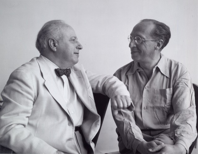 Aaron Copland with Walter Piston, 1960