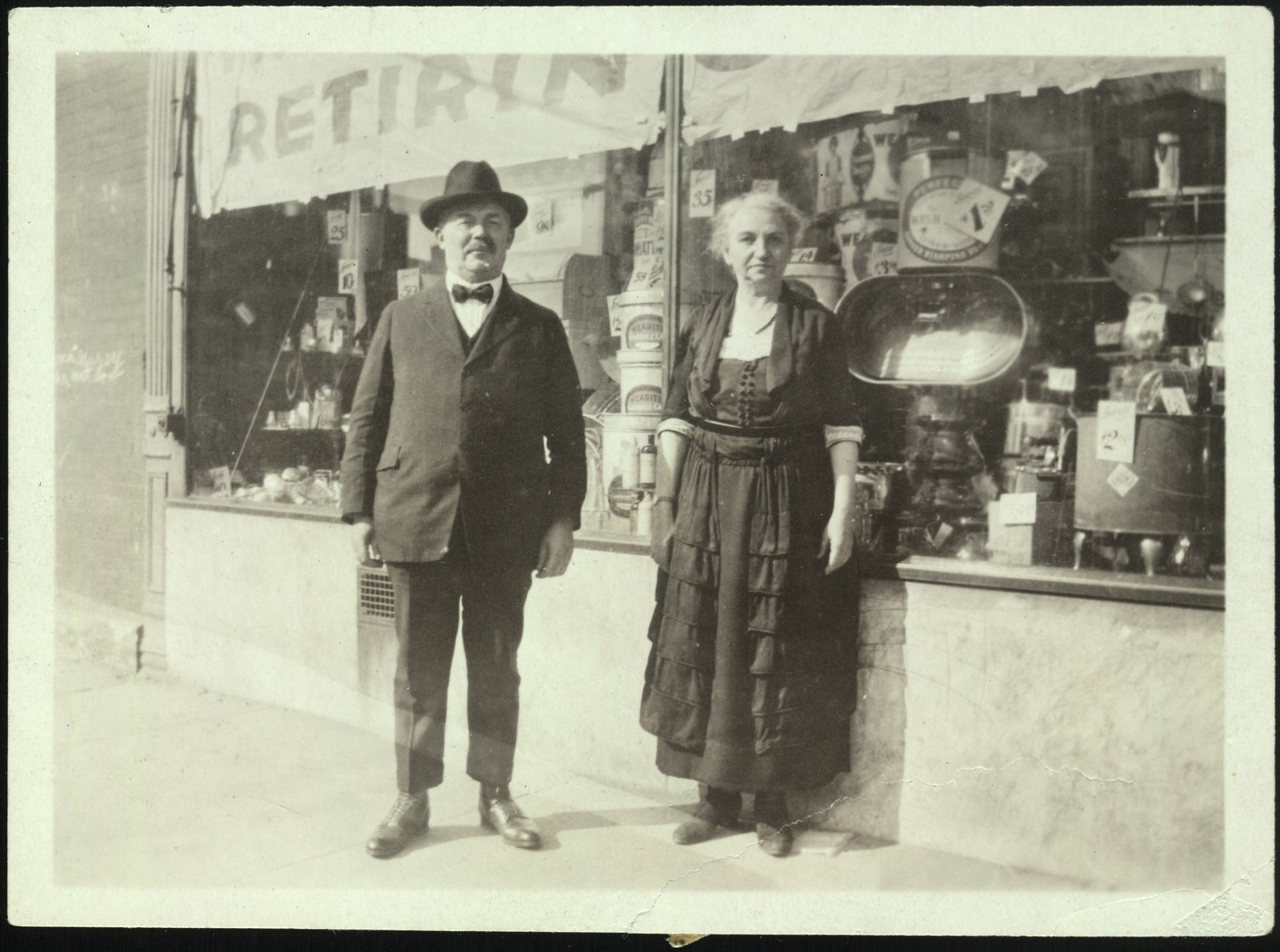 Aaron Copland's parents Harris and Sarah Copland, 1922