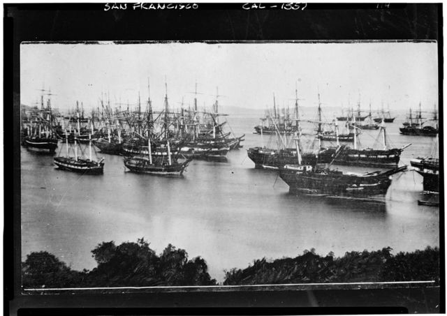 Abandoned Ships, Historic View, 1849-1850, Yerba Beuna Cove, San Francisco, San Francisco County, CA