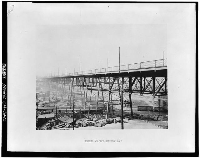 Abbey Avenue Viaduct, Spanning Walworth Valley at Abbey Avenue, Cleveland, Cuyahoga County, OH