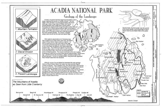Acadia National Park Roads & Bridges, Mount Desert Island, Bar Harbor, Hancock County, ME