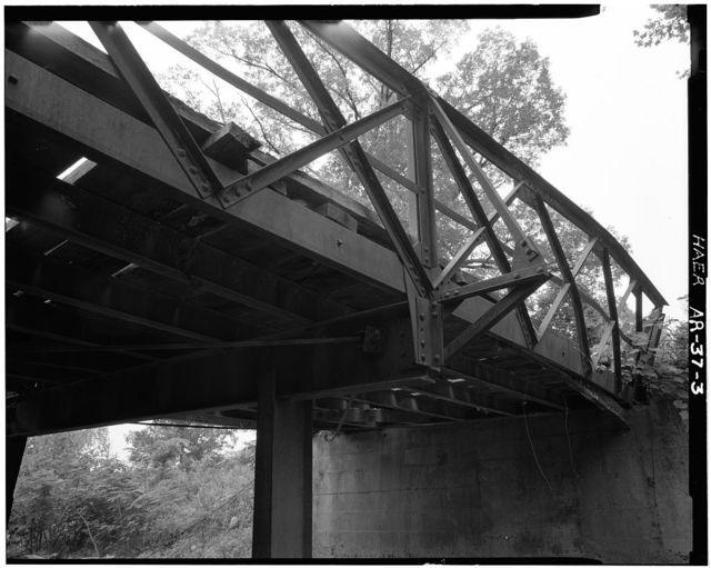 Achmun Creek Bridge, Spanning Achmun Creek at County Road 222, Ola, Yell County, AR