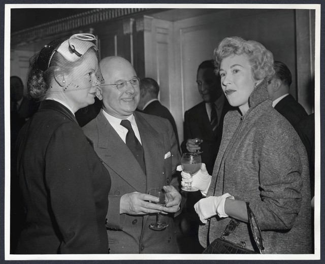 Actress Barbara Kelly, Exhibitor Ralph Black and Patricia Hornsby-Smith
