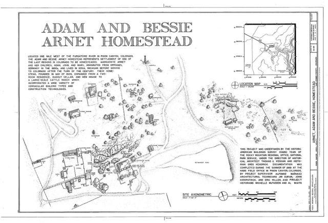 Adam & Bessie Arnet Homestead, 20 miles east of U.S. Highway 350, Model, Las Animas County, CO