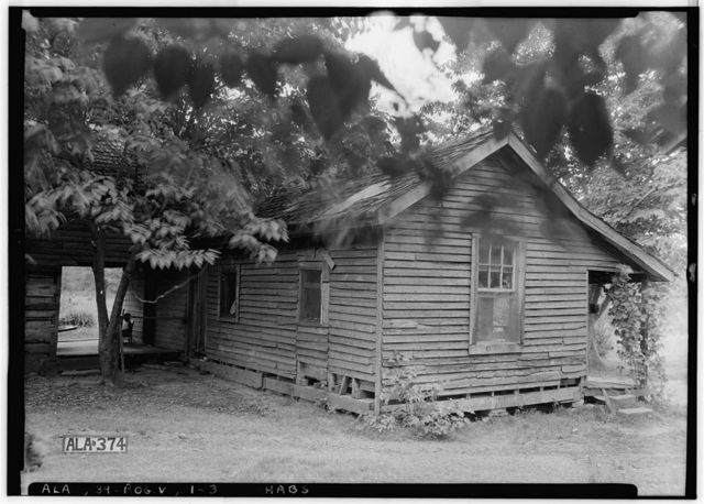 Adam Weaver Log House, U.S. Highway 72, Rogersville, Lauderdale County, AL