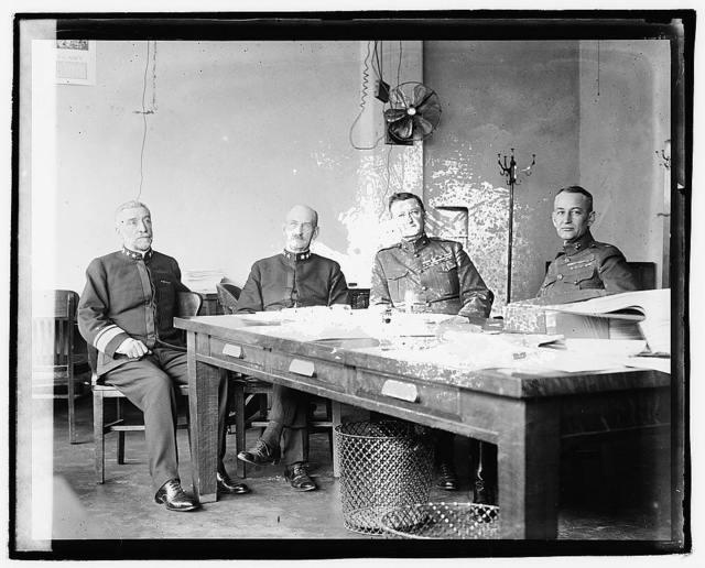 Admls. Jas. H. Oliver, Henry T. Meyer, Maj. Gen. W.C. Neville, Maj. Jesse I. Dyer, 10/22/20