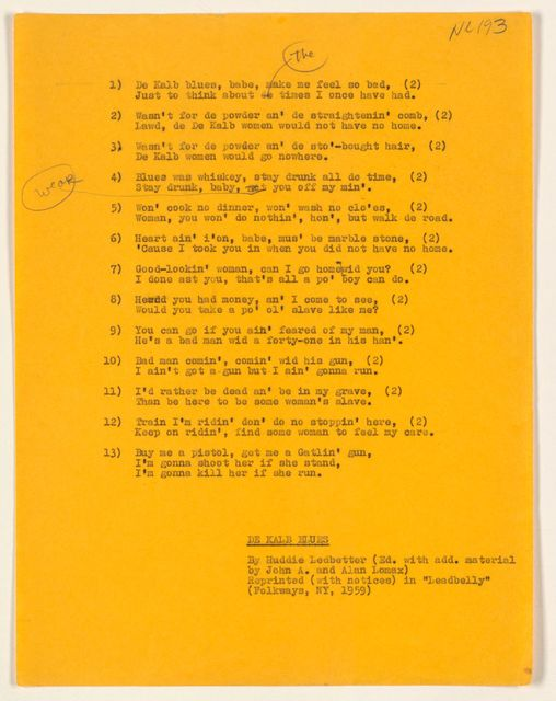 Alan Lomax Collection, Manuscripts, Big Ballad Book, 1961-1991