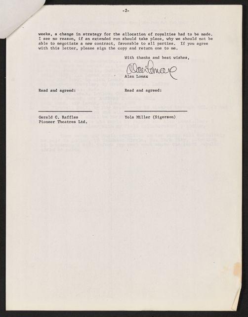 Alan Lomax Collection, Manuscripts, Big Rock Candy Mountain, 1953