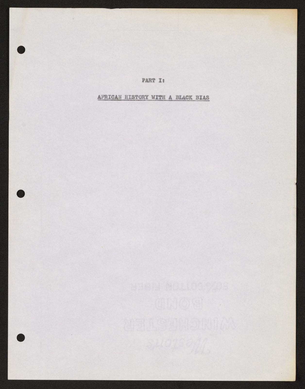 Alan Lomax Collection, Manuscripts, Black Identity Project, 1968-1970, 3000 Years of Black Poetry