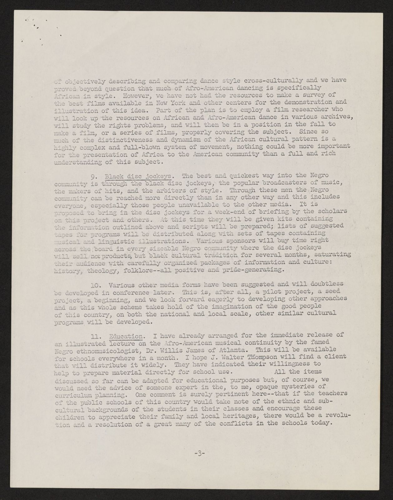 Alan Lomax Collection, Manuscripts, Black Identity Project, 1968-1970, administrative