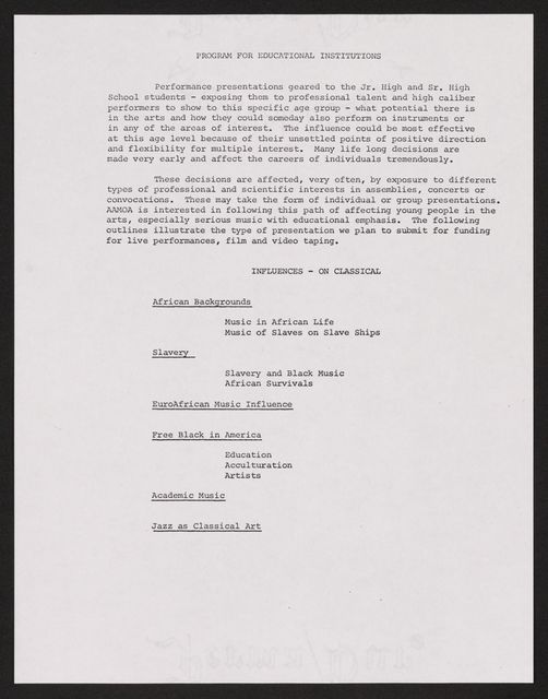 Alan Lomax Collection, Manuscripts, Black Identity Project, 1968-1970, administrative