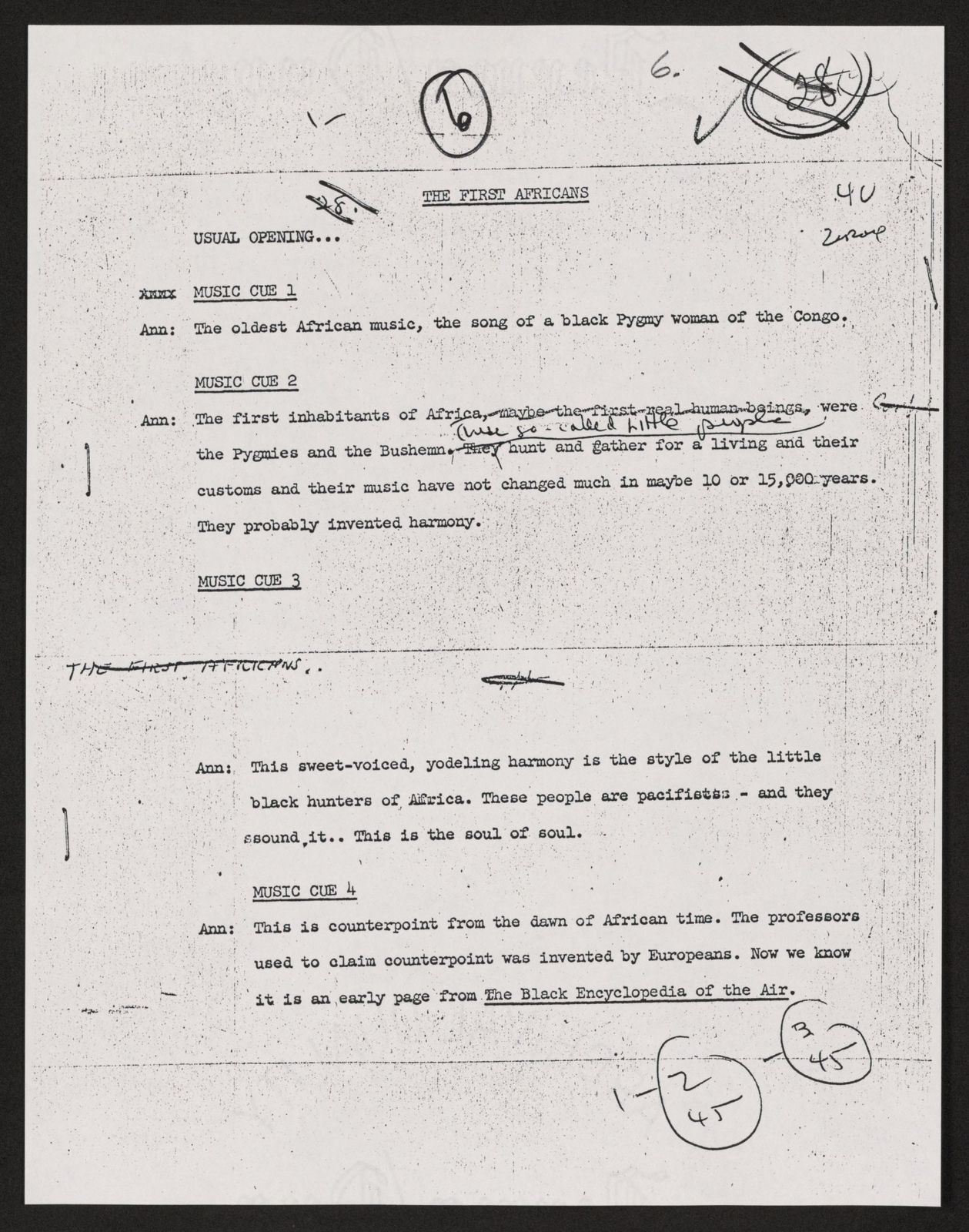 Alan Lomax Collection, Manuscripts, Black Identity Project, 1968-1970, Black Encyclopedia of the Air, 1968-1969