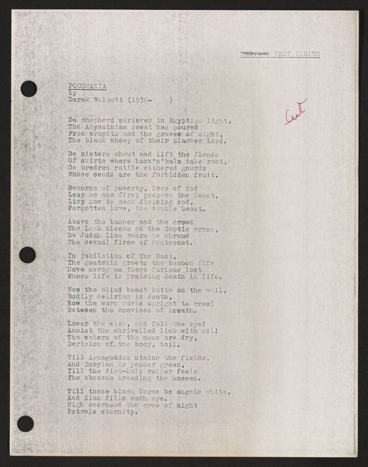 Alan Lomax Collection, Manuscripts, Black Identity Project, 1968-1970, Les Ameriques Noires, Roger Bastide