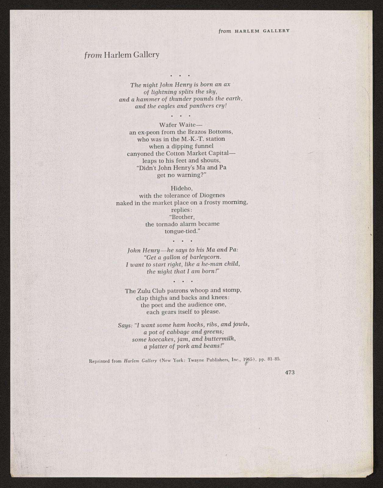 Alan Lomax Collection, Manuscripts, Black Identity Project, 1968-1970, Les Ameriques Noires, Roger Bastide