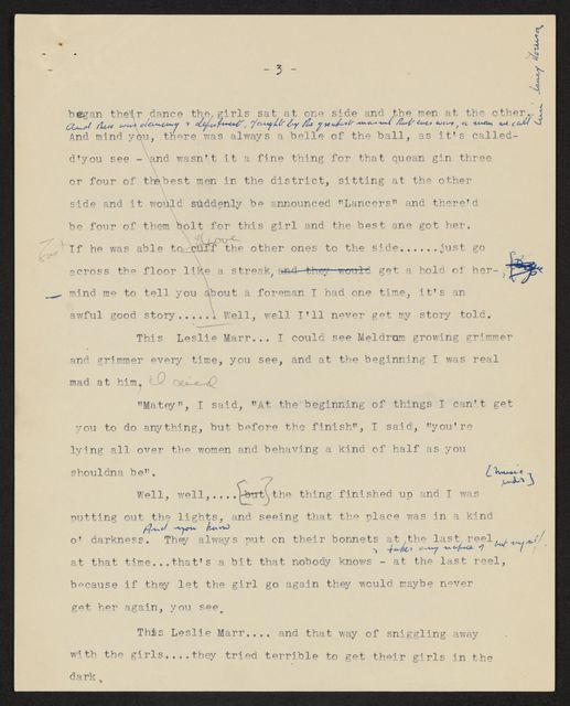 Alan Lomax Collection, Manuscripts, British Isles