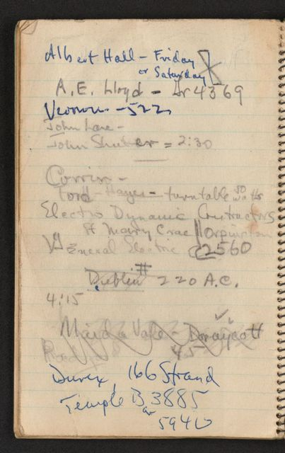 Alan Lomax Collection, Manuscripts, British Isles, 1950-1958