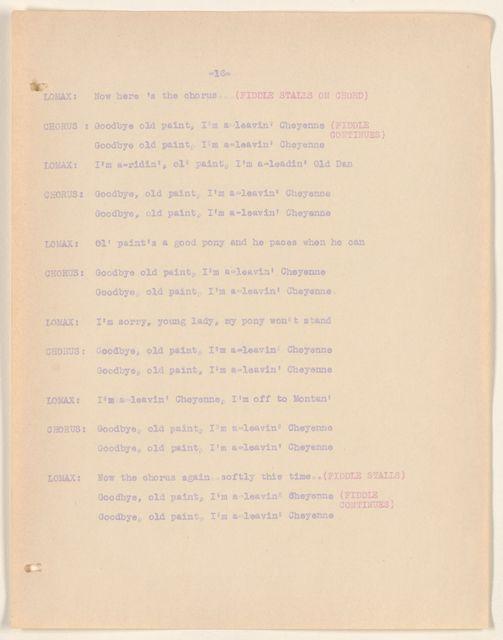 Alan Lomax Collection, Manuscripts, CBS, 1939-1940, American School of The Air, Folk Music of America