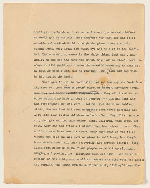 Alan Lomax Collection, Manuscripts, Folklore manuscripts, 1930-1939
